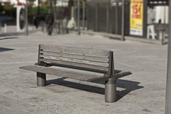 seri mobiliers urbains banc double mercure. Black Bedroom Furniture Sets. Home Design Ideas